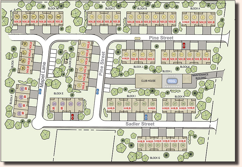 Maple meadow homes site plan Home site plan